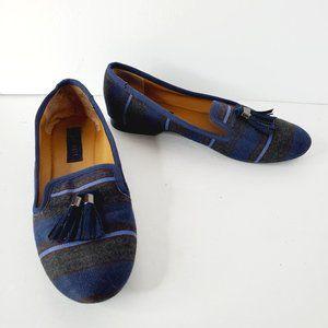 NINE WEST Blue Boho Canvas Loafers